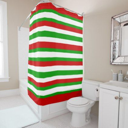 red white striped shower curtain. Red White and Green Stripes Shower Curtain  home decor design art diy cyo custom Best 25 Striped shower curtains ideas on Pinterest