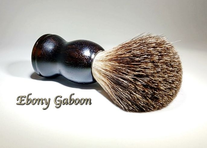 Badger Hair Shaving Brush. Ebony Gaboon. Can be found on my Etsy shop!