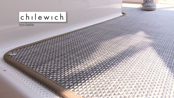 In this video we will install Chilewich Floor Covering Fabric from Sailrite in a powerboat. Chilewich is a beautiful woven flooring with a blend of vinyl mes...