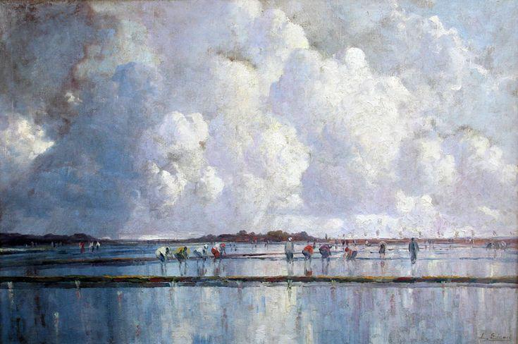 Leo Eland - Wolkenspel boven de sawahs