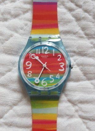 """Zegarek damski Swatch, kolorowy """"Color the sky"""""""