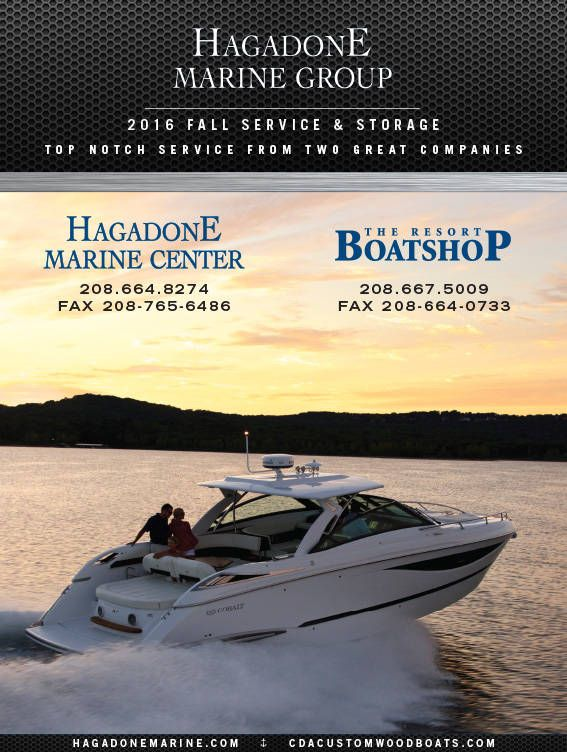 Hagadone Marine Group serves Lake Coeur d'Alene, Spokane, Western Montana and the Inland Northwest with new and used boat sales in CDA. They also provide boat services for yachts, pontoon boats, sport boats, wakeboarding boats and custom wood boats. For more information, contact: hagadonemarine.com.