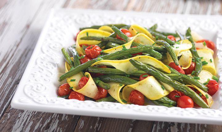 Green-Bean-Summer-Squash-Salad  #EatSmart