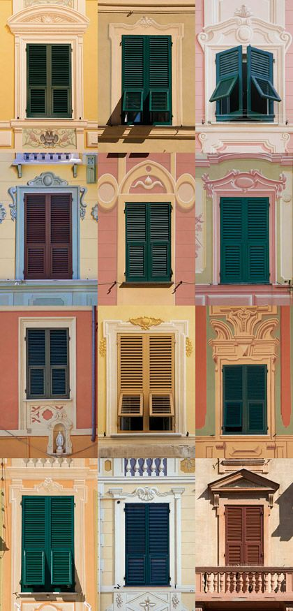 Windows in Santa Margherita Ligure, Italy
