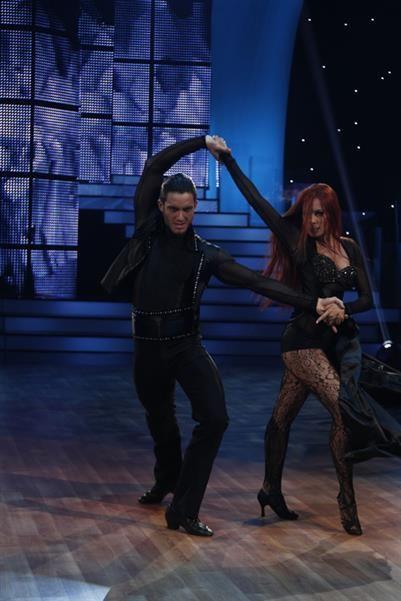 Beautifull dark dancedress a perfect performance at dancing with the stars 5 #dancewear