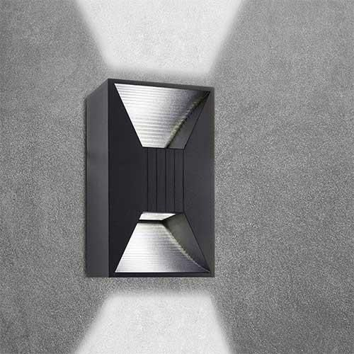 Bright Star Up/Down Facing Die Cast Aluminium Wall Light L291 BLACK