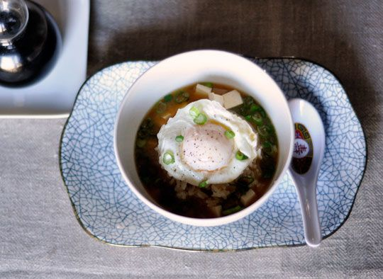Miso Soup with Rice & Poached Egg: Weeknight Recipes, Miso Soups, Simple Suppers, Soups Recipes, 07 Yummm Soups, Cooking, Rice Amp, Poached Eggs, 2011 01 05 Misosoup03 Jpg