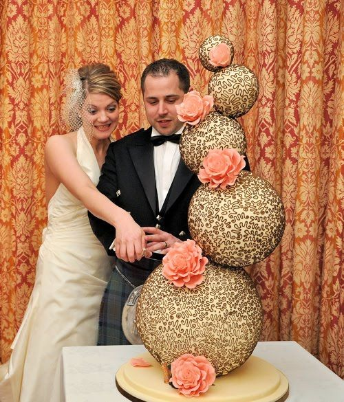 Unusual Wedding Cakes - California Weddings: http://pinterest.com/fresnoweddings/