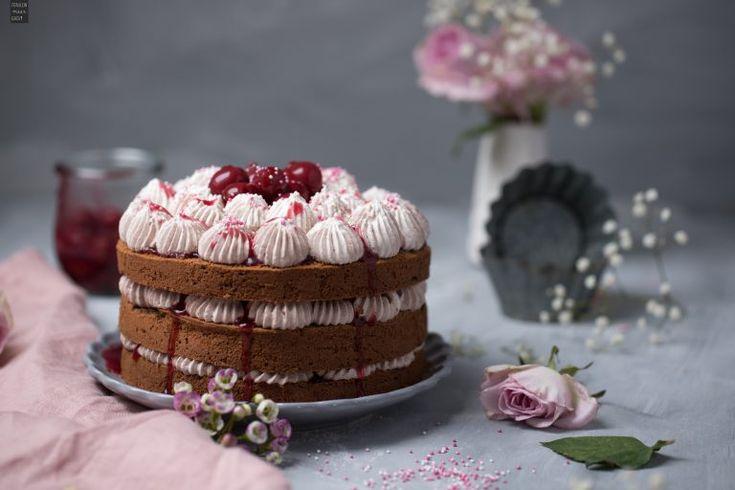 Schoko-Torte mit Kirschen – backen + kochen