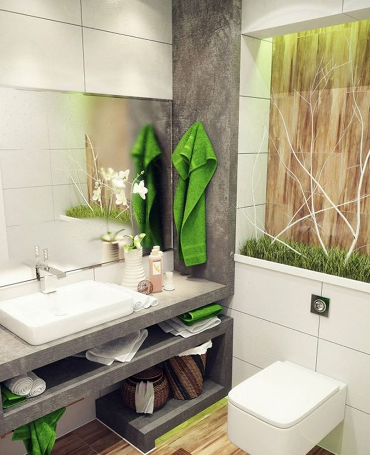 Very Small Bathroom Storage Ideas White Ornament Hanging On Green Wall Unframed Oval Floating Mirror Cherry
