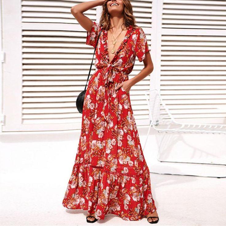 Park Art|My WordPress Blog_White Maxi Dress With Red Flowers