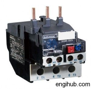 Electric Motor failed due to excessive current.To protect