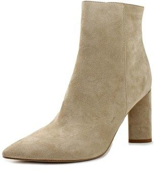 KENDALL + KYLIE Gretchen Women Pointed Toe Suede Nude Ankle Boot.