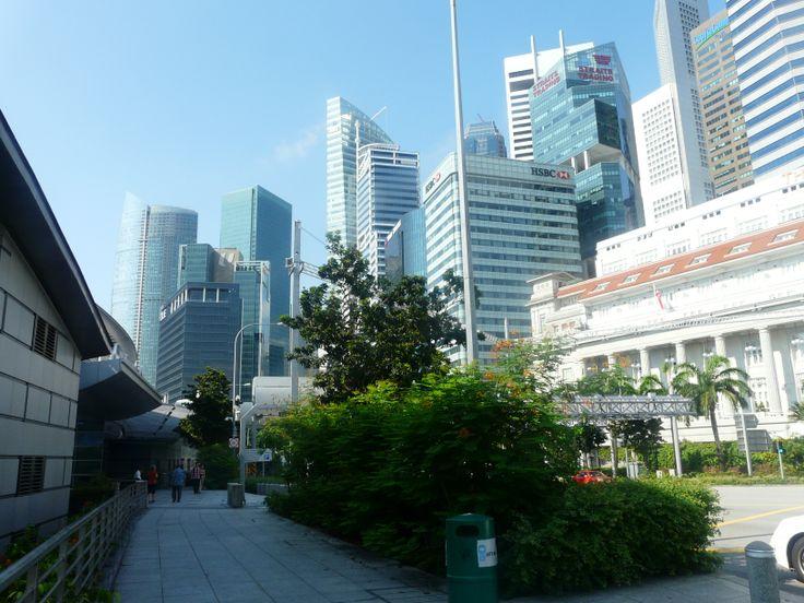 Buildings near Merlion Park, Singapore. October 2011