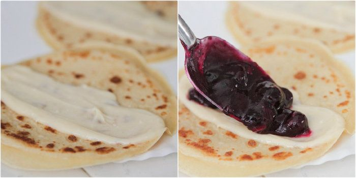 ... Crepes on Pinterest | Mini cheesecakes, Crepes and Blueberry crepes