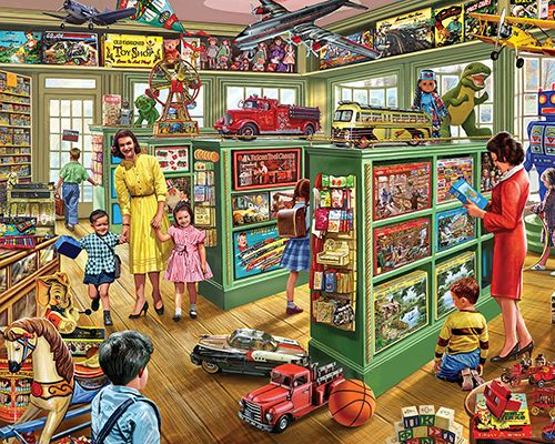 The Toy Store Jigsaw Puzzle-White Mountain Puzzles
