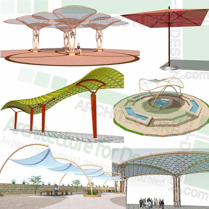 Gazebo, pergola, canopy and shelter, SketchUp 3D models ...