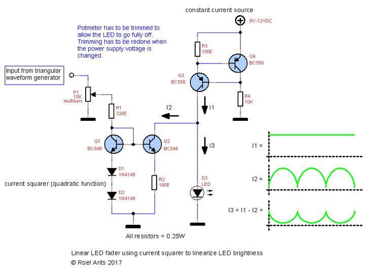 roel arits electronics hobby shack – Alternierender analoger LED-Fader – Circuits