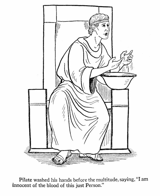 easter bible coloring page pilate washing his hands celebrating easter with kids the bible