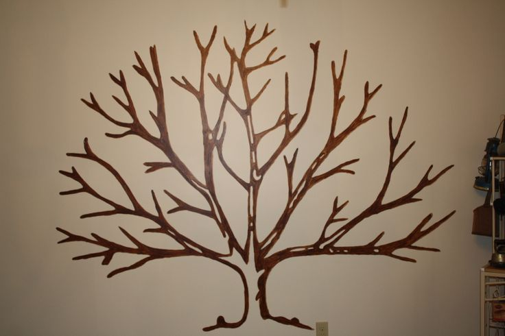 Family Tree Painted On The Wall Done With Over Head