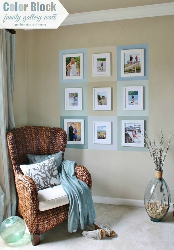 color block bedroom color block family gallery wall textured walls chair 11152