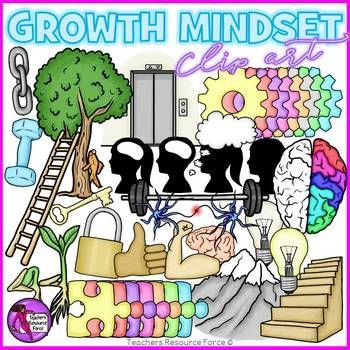 Growth Mindset clip art! A 69 piece high quality set of clip art containing a huge variety of different images depicting all things Growth Mindset! @resourceforce