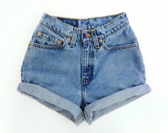 Levis High Waisted Denim Shorts - hippie - Sizes US 0 - 20 Womens 9