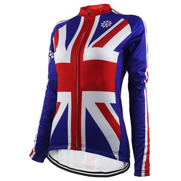 Women's Thermal Union Jack Long Sleeve Cycling Jersey-Online Cycling Gear