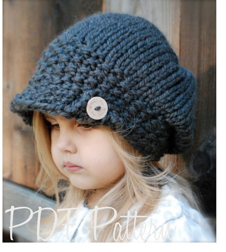 Knitting PATTERN-The Aralynn Slouchy (Toddler, Child and Adult sizes) also can be Made to Order. $5.50, via Etsy.