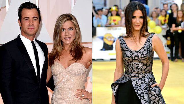Sandra Bullock and Jennifer Aniston went on an A-list double date! ET has the details.