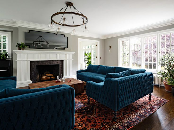 Captivating A Jessica Helgerson Tudor (desiretoinspire.net). Blue SofasBlue ...