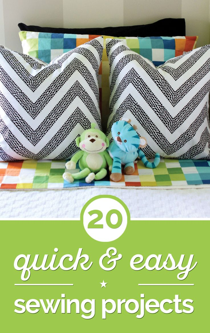 quick and easy sewing projects Sewing for beginners - quick and easy pillowcase tutorial the perfect project for someone interested in their first sewing project.