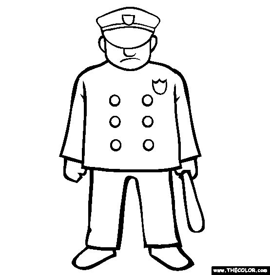 Police Coloring Page | Free Police Online Coloring
