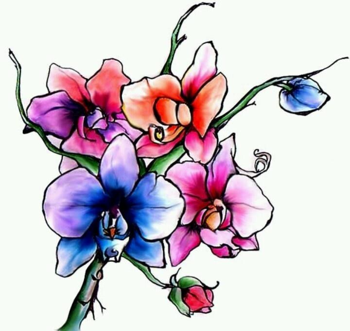Watercolor tattoo design
