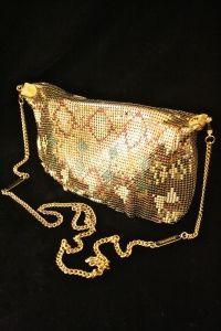 1970s PATTERNED GLOMESH SHOULDER BAG