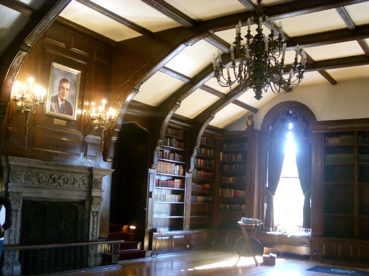 Library at Spindletop Hall - Lexington, KY - You may recognize this room from the movie Secretariat. The coin flip scene was filmed here.