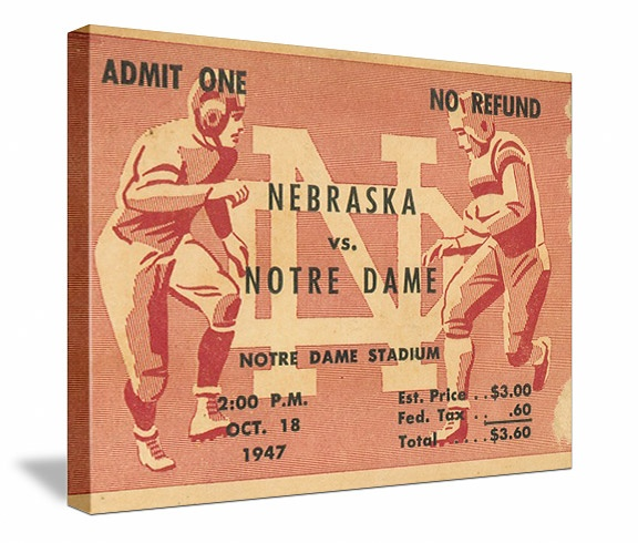 Notre Dame football tickets! The best vintage Notre Dame football tickets are at http://www.shop.47straightposters.com/Indiana-Football-Tickets-Notre-Dame-Purdue-Indiana-tickets_c21.htm