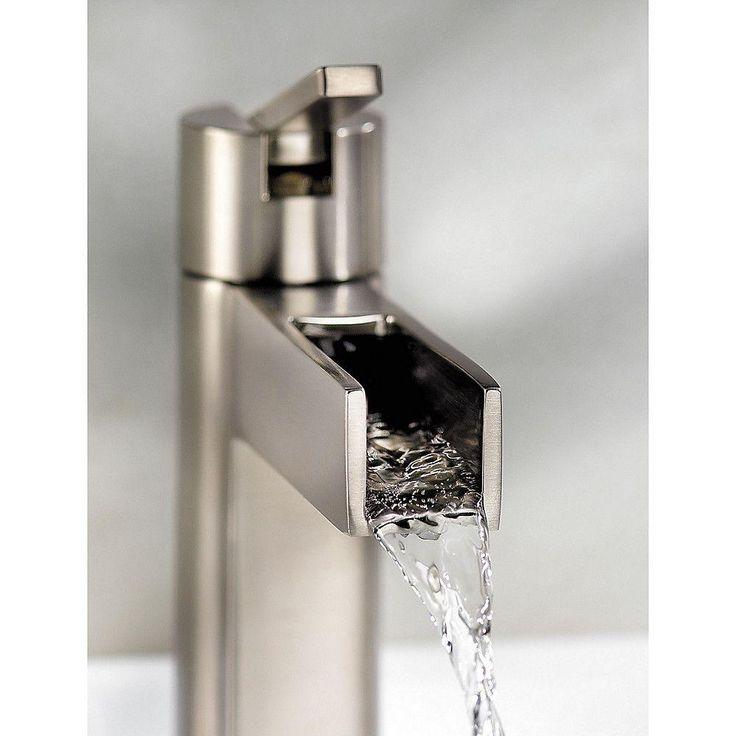 Pfister Vega Single Hole Single-Handle Bathroom Faucet in Brushed Nickel-LF-042-VGKK - The Home Depot