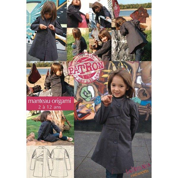 Manteau origami enfant