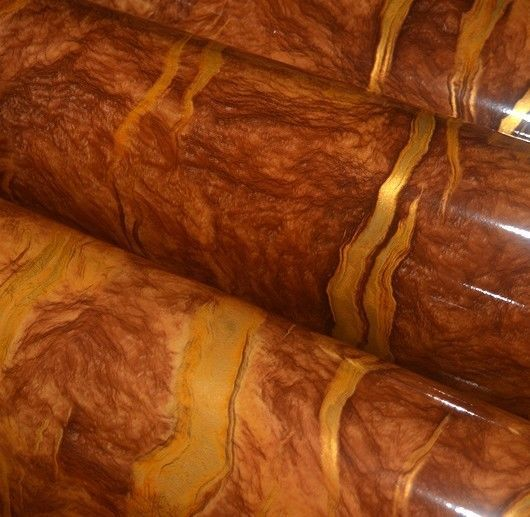 Orange Marble Self Adhesive Vinyl Contact Paper 24-Inches by78.7-Inch