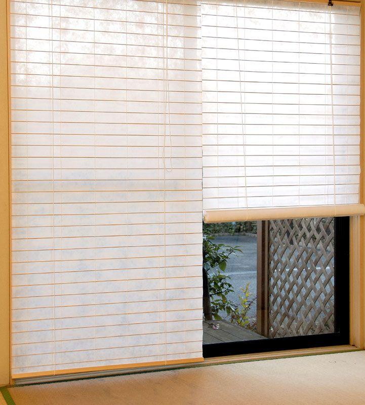 楽天市場】障子風ロールスクリーンRH-1160 / RH-1161幅88cm x 高さ ... 和紙調障子風ロールスクリーン_ナチュラル_和室