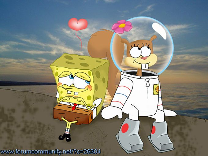 SpongeBob and Sandy Love by StePandy.deviantart.com on DeviantArt  SpongeBob and Sandy (c) United Plankton Pictures, Nickelodeon & Paramount Pictures
