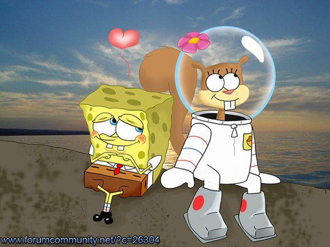 SpongeBob and Sandy Love by StePandy.deviantart.com on @DeviantArt