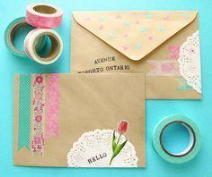 pretty mail #washi
