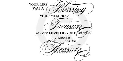 Blessing Funeral Poem Elegant Title. Can be used for a