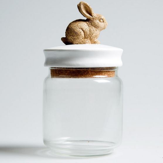 #cute #rabbit #trinket #storage #jar
