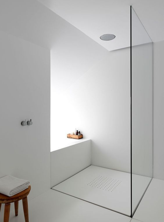 cabine de douche white and grey