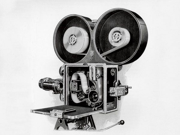 The Bell & Howell all-metal camera, c. 1912. Bell & Howell became a significant contributor to the development of motion picture camera technology - especially in the direction of smaller, lighter, and consumer-friendly. Page through this brief slideshow on the history of motion picture cameras: http://www.popularmechanics.com/technology/digital/visual-effects/a-brief-history-of-the-movie-camera