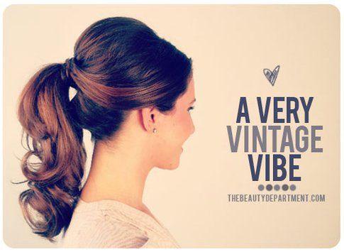 Hair style passo passo: coda stile anni '50