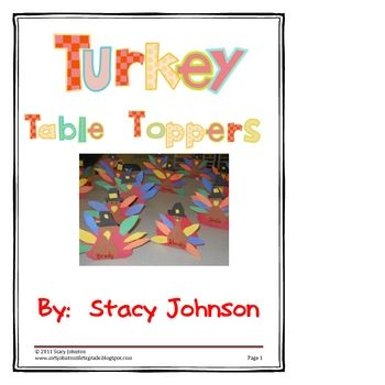 This activity was such fun for my first graders!  They took them home to put on the Thanksgiving table where they were going to sit.  This product ...